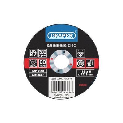 Disque à meuler Draper Ø115mm épaisseur 6mm grain 80 (1pièce)