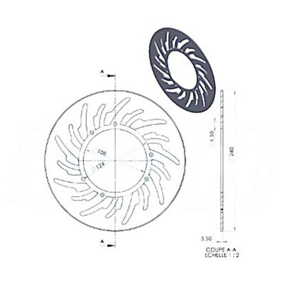 Disque de frein avant NG Brake Disc D.240 X-Limit 03-05 - 837