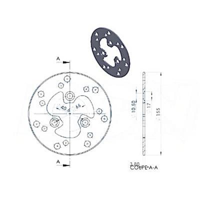 Disque de frein NG Brake Disc D.155 - 406