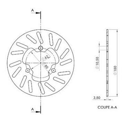 Disque de frein NG Brake Disc D.180 arrière droit DERBI - 089