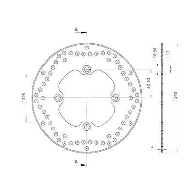 Disque de frein NG Brake Disc D.240 - 209