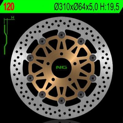 Disque de frein NG Brake Disc D.310 Suzuki - 120