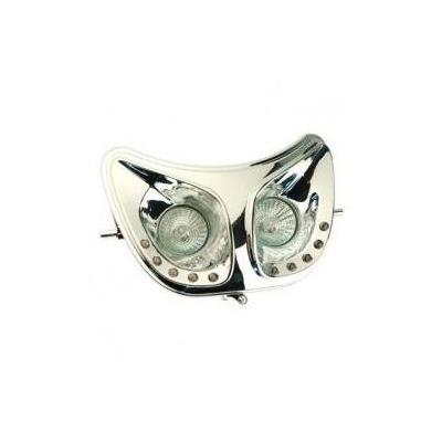 Double optique 1 Tek Tuning chromé leds blanches Senda