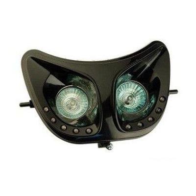 Double optique 1 Tek Tuning noir leds blanches Senda