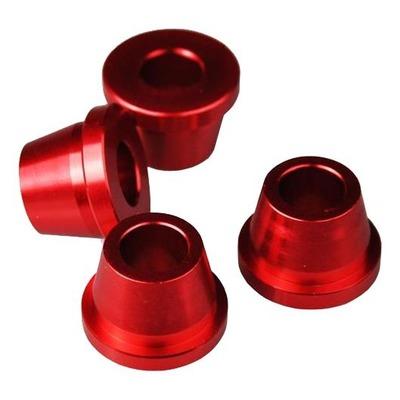 Douilles pontet de guidon Scar Honda CR 250R 99-07 rouge (4 pièces)