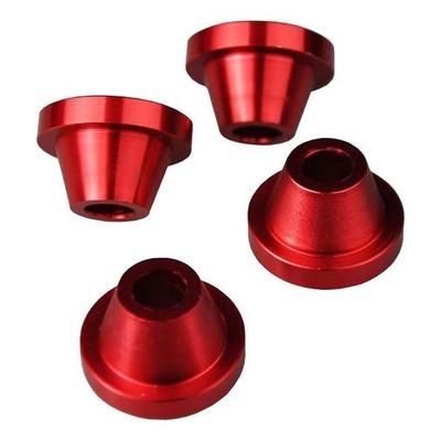 Douilles pontet de guidon Scar Suzuki 250 RM 02-08 rouge (4 pièces)