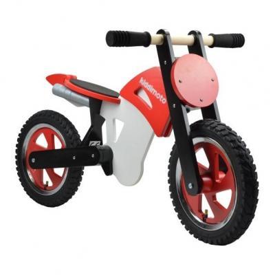 Draisienne moto Kiddimoto Scrambler rouge/noir/blanc