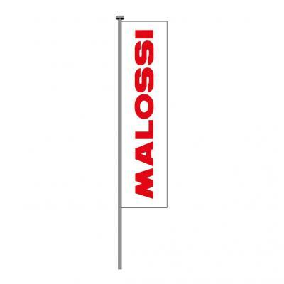 Drapeau Malossi rouge sur blanc
