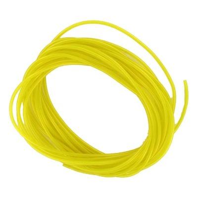 Durite souple jaune transparent pour essence / graissage séparé Ø 2x5mm 10m