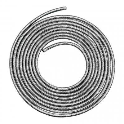 Durite tressée acier inoxydable essence/huile 7,6 m Ø 5/16'' (7,9 mm)