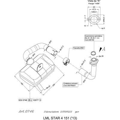 Échappement Sitoplus pour LML Star 4 151 13-15