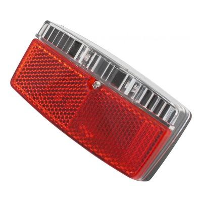 Éclairage arrière sur porte-bagage rouge/blanc (à dynamo)