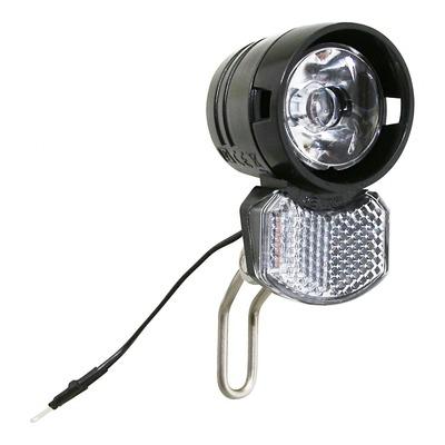 Éclairage avant Axa Écoline à LED 15 LUX 2,4W noir (à dynamo)