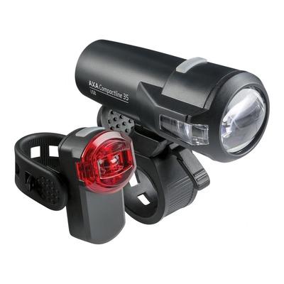 Éclairage avant et arrière Axa 35 Lux noir (à batterie)