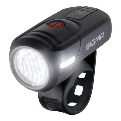 Éclairage avant Sigma Aura 45 Lux homologué noir (à batterie)