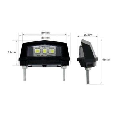 Éclairage de plaque Blackway 3 LED noir