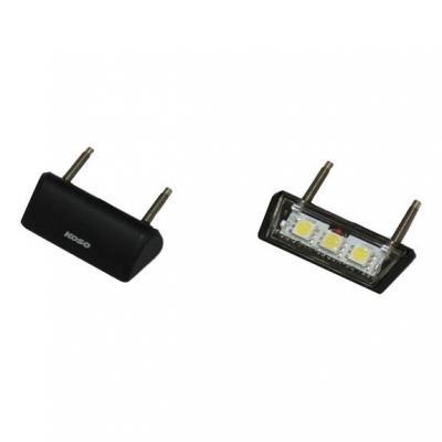 Éclairage de plaque d'immatriculation Koso LED Drop noir