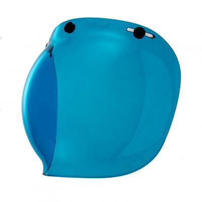 Ecran bubble Biltwell bleu