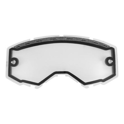 Écran Fly Racing Dual Lens with vents transparent