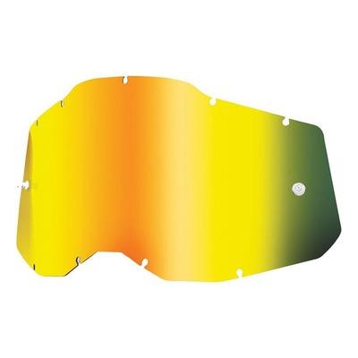 Écran masque cross 100% RC2/AC2/ST2 Iridium or