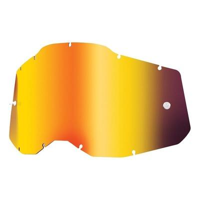 Écran masque cross 100% RC2/AC2/ST2 Iridium rouge