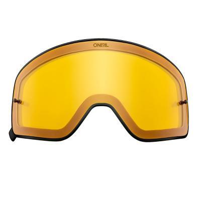 Écran O'Neal pour masque B 50 jaune avec cadre noir