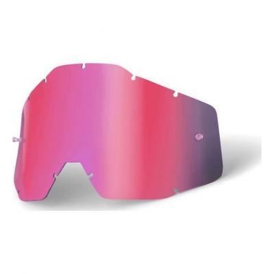 Écran pour masque 100% Racecraft +/Racecraft/Accuri/Strata anti-buée miroir rose