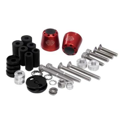 Embouts de guidon Gilles Tooling LG-CO rouges