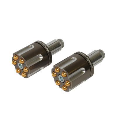 Embouts de guidon Replay Colt alu CNC tungstene/or