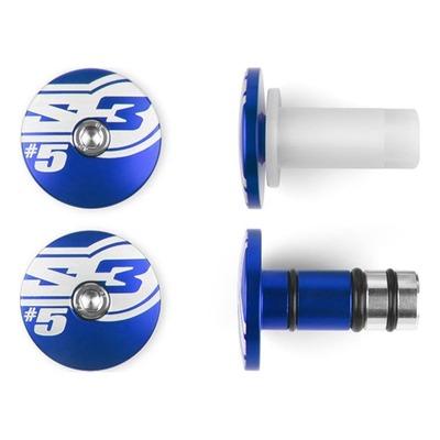 Embouts de guidons bleu S3 End 5 Ø 14mm