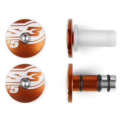 Embouts de guidons orange S3 End 5 Ø 14mm
