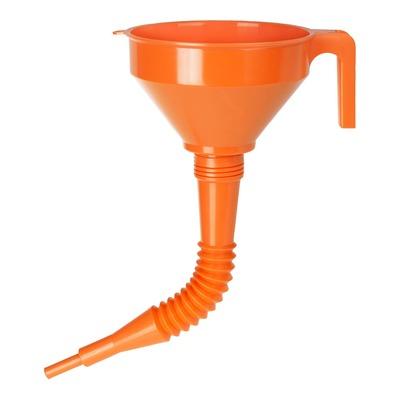 Entonnoir plastique Pressol orange avec bec flexible Ø 160mm