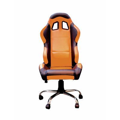 Fauteuil de bureau Paddock orange / noir