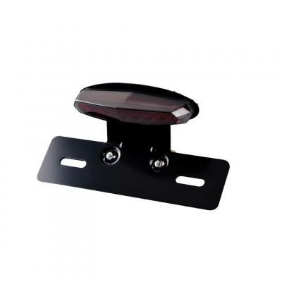 Feu arrière LEDS avec support et éclaireur de plaque fumé