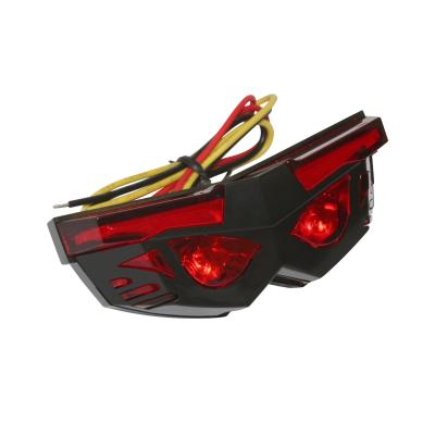 Feu arrière leds Replay mask avec stop et éclairage plaque rouge/noir
