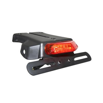 Feu arrière leds Replay rouge avec support de plaque noir