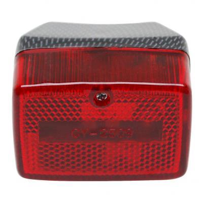 Feu arrière Replay RC rouge/carbone pour Peugeot 103/MBK 51