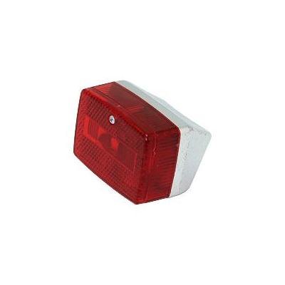 Feu arrière rouge base chromée Solex/103