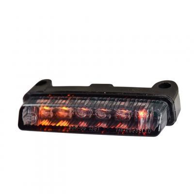 Feu arrière Tun'R universel clignotants intégrés fixation verticale fumé/noir a LED