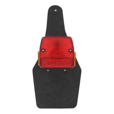 Feu rouge arrière avec catadioptres et bavette souple Peugeot 103 SP/SPX