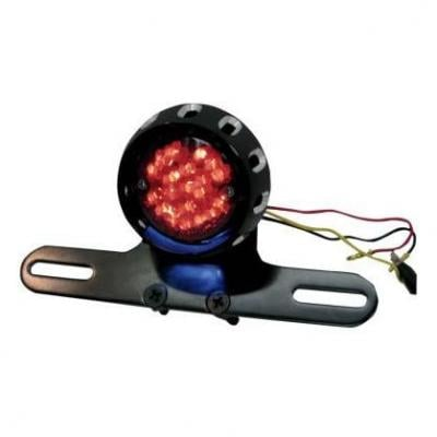 Feu stop Custom Drag Specialties Bobber homologué avec support de plaque intégré noir