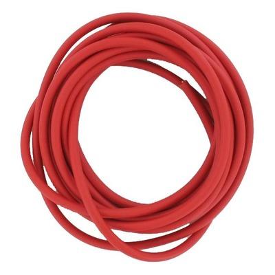 Fil de bougie rouge racing 6mm PVC 5m