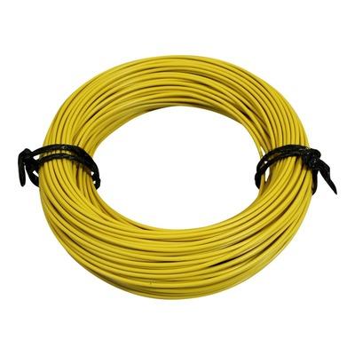 Fil électrique 12-10 x1,00mm jaune 50m