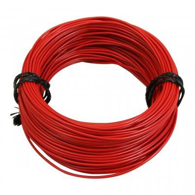 Fil électrique 12-10 x1,00mm rouge 50m