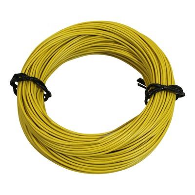 Fil électrique 7-10 x0,50mm jaune 50m