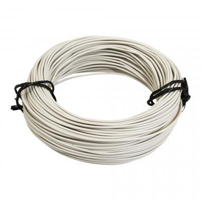 Fil électrique 9-10 x0,75mm blanc 50m