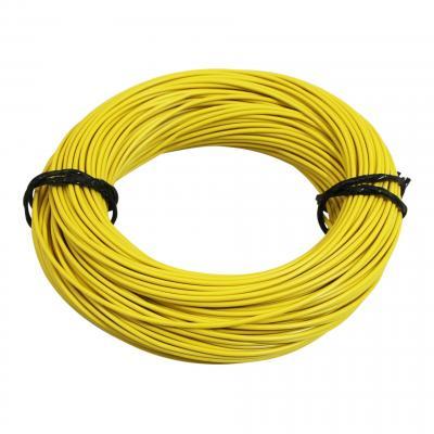 Fil électrique 9-10 x0,75mm jaune 50m