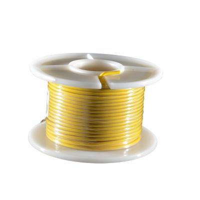 Fil électrique jaune section 0.75 mm 25 m