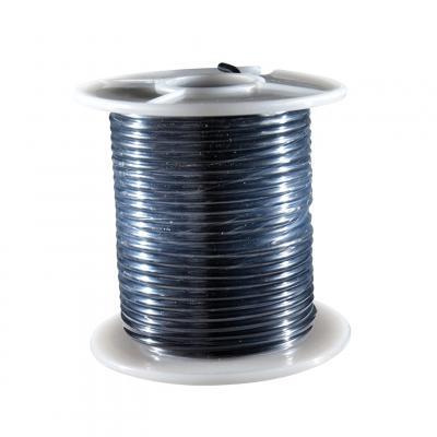 Fil électrique noir section 2.5 mm 25 m