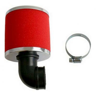 Filtre à air Athena Ø30 mm rouge coudé à 90°